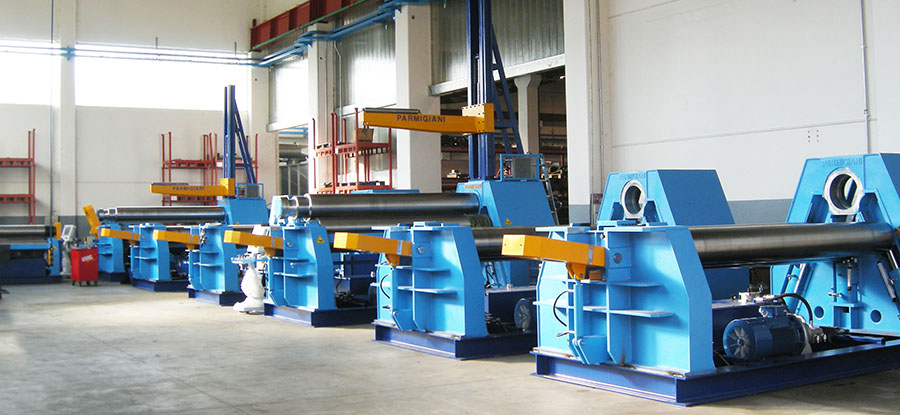 plate bending rolls, plate rolling machines, 4-roll plate bending machines, angle rolls, section rolls, flanging machines, dishing press